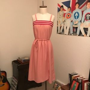 NWOT Strawberry Sherbert Boho Midi Dress w/ Cape